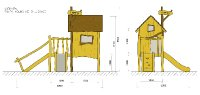 Dřevěný domeček
