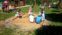 Dřevěné pískoviště