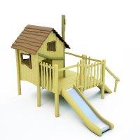 Dřevěný domeček pro děti