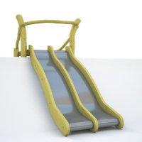 Dvoudráhová svahová skluzavka - 2x 50cm