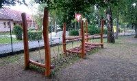 Lanový a dřevěný most